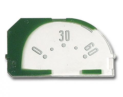 Corvette Temperature Gauge Face, 1953-1958