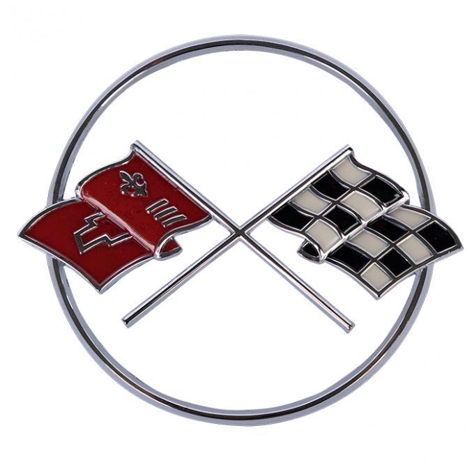 Corvette Crossed-Flags Emblem, Front, 1962