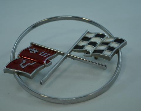 Corvette Crossed-Flags Emblem, Front, USED 1962