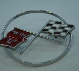 Corvette Crossed-Flags Emblem, Front, USED 1962