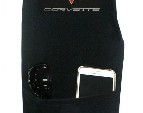 Seat Armour Corvette 2005-2013,  Konsole Cover™ with Pocket, Black, KACORC6B