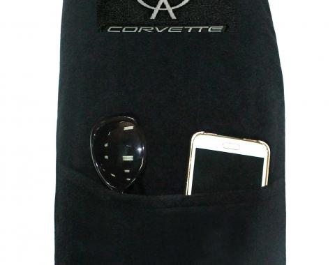 Seat Armour Corvette 1997-2004,  Konsole Cover™ with Pocket, Black, KACORC5B