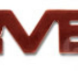 Corvette Emblem, Rear Acrylic Red, 1984-1990