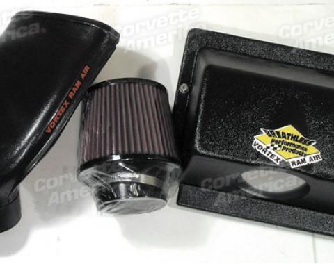 Corvette Vortex Rammer Cold Air System, Black, 1990-1996