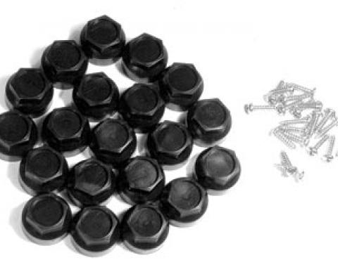 Corvette Wheel Lugnut Cap Kit, Black, 1984-1985 & 1997-1999