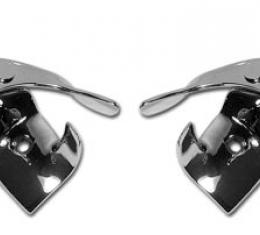 Corvette Softtop Latches, Rear on Top, 1953-1955