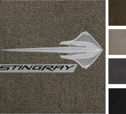 Corvette Floor Mats, 2 Piece Lloyd® Ultimat™, with Stingray & Stingray Script, 2014-2016