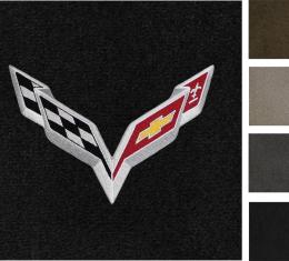 Corvette Floor Mats, 2 Piece Lloyd® Ultimat™, with C7 Flags, 2014-2016