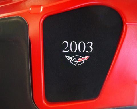 Corvette Hood Liner Display Panel, Silver, 2000