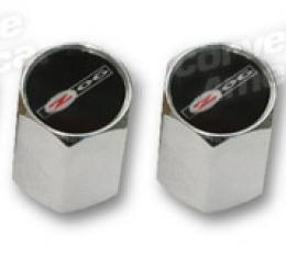 Corvette Valve Stem Caps, Chrome with Z06