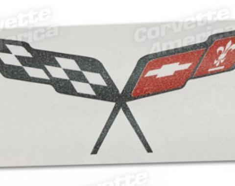 Corvette Steering Wheel Decal, Black, 1997-2004