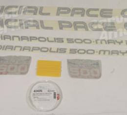 Corvette Body Strip Decal Kit, Pace Silver, 1986