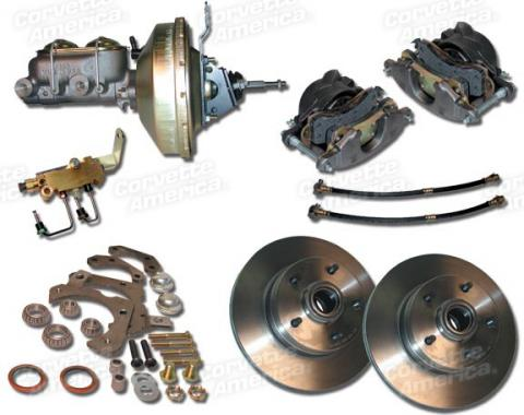 Corvette Disc Brake Conversion Kit, Front Power, 1963-1964