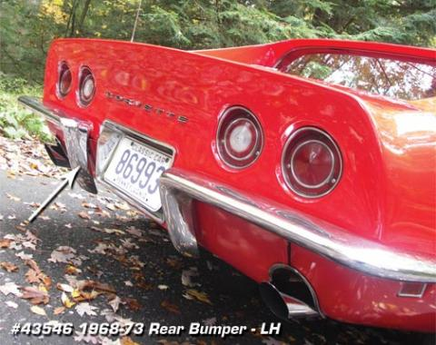 Corvette Rear Bumper, Left USA, 1968-1973