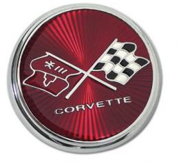 Corvette Emblem, Nose, 1975-1976
