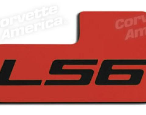 Corvette Throttle Body Plate, LS6 Red/Black, 2001-2004