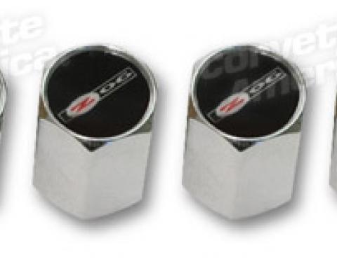 Corvette Valve Stem Caps, Chrome with Z06