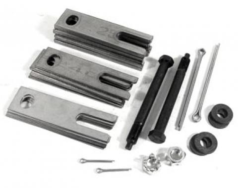 Corvette Trailing Arm Shim Kit, Stainless Steel with Bolts, 1963-1982