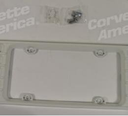Corvette License Frame, Phantom Spdwy White, 2001-2004