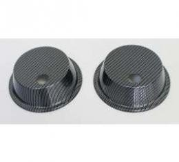 Corvette Headlight Actuator Covers, Carbon Fiber, 1968-1982