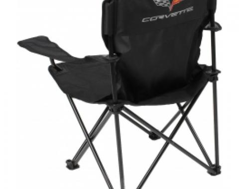 Corvette Folding Arm Chair, With C6 Emblem