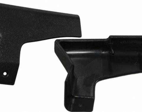 Corvette Lock Pillar Covers, Upper, Convertible, 1988-1989