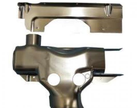 Corvette Exhaust Manifold Pre-Heat Stove Shield Assembly With A.I.R., 1976-1980