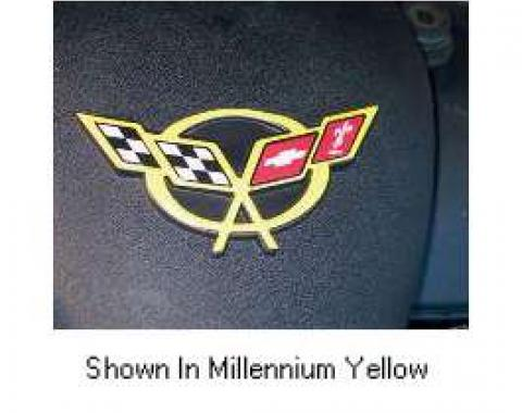Corvette C5 Millennium Yellow Air Bridge 3D Domed Logo Decal, 1997-2004