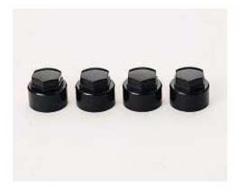 Corvette Wheel Lock Cap Set, McGard, Black, 1984-1996