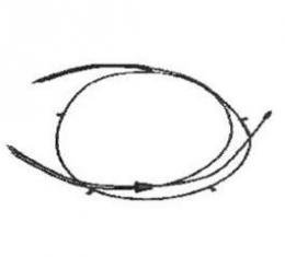 Corvette Hood Release Cable Assembly, 1997-2004