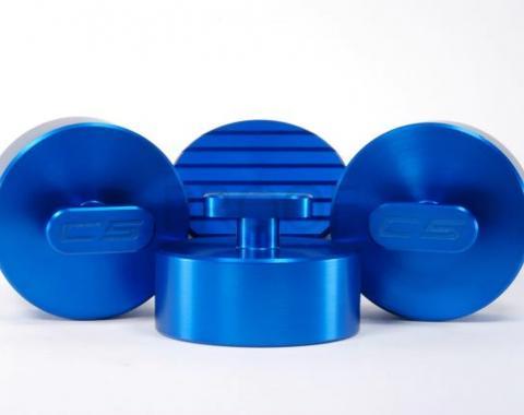 Corvette Jack Lifting Pads, Cool Blue, 1997-2013