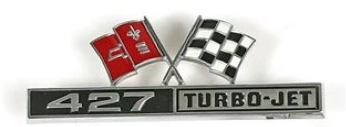 Corvette Emblem, Front Fender 427 Turbo Jet, 1966