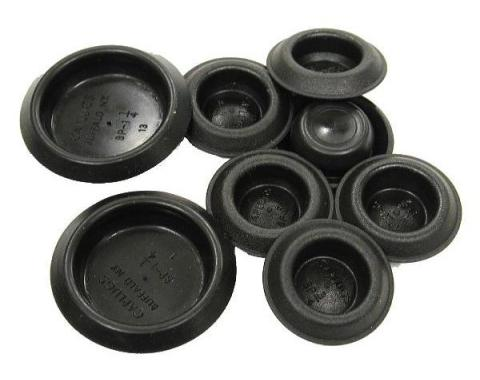 Corvette Floor Pan Drain Plugs, 8 Piece Set, 1963-1976