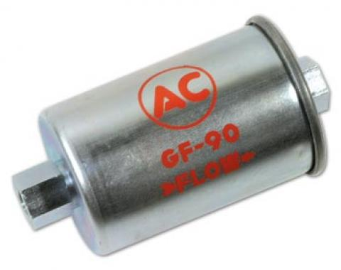 Corvette Fuel Filter, GF-90 Silver with Red Letters, 1962-1965