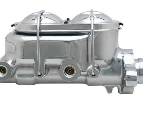 Chevy Dual Master Cylinder, With Power Disc Brakes, Chrome