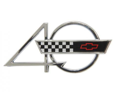 Corvette Emblem, Side Fender 40th Anniversary, 1993