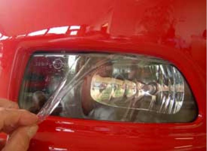 Corvette Fog Light Lens Protectors, Clear, 2005-2013