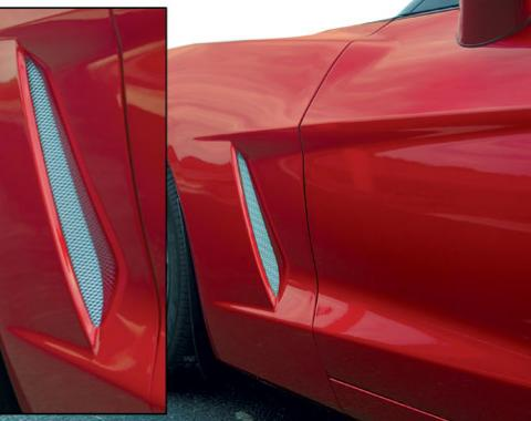Corvette Side Fender Screens Stainless Steel, 2005-2013