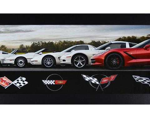 Corvette Generations Framed Panorama