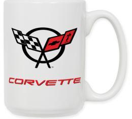Corvette Ceramic Logo Mug, 15oz, 1997-2004