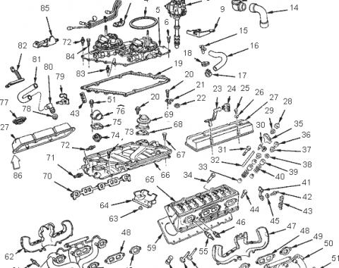 Corvette Spark Plug Wire Support to Valve Cover, Right, 1984