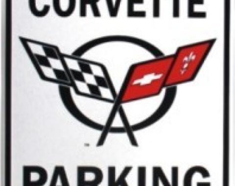 Corvette Parking Sign, C5 Embossed Steel, 1997-2004