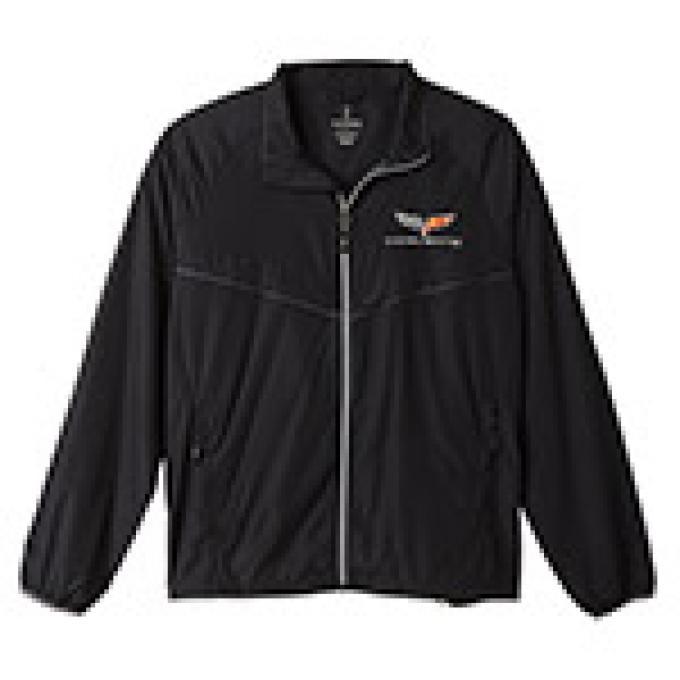 Corvette C6 Black, Windbreaker Jacket, 2X-Large
