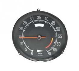 Corvette Tachometer, L82 6000 Red Line, 1975-1977