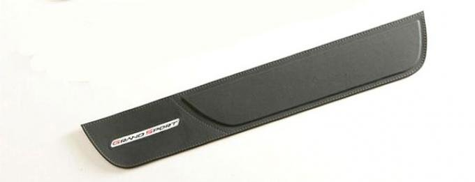 Corvette Door Sill Pads, Leather, With Grand Sport Logo, 2010-2013