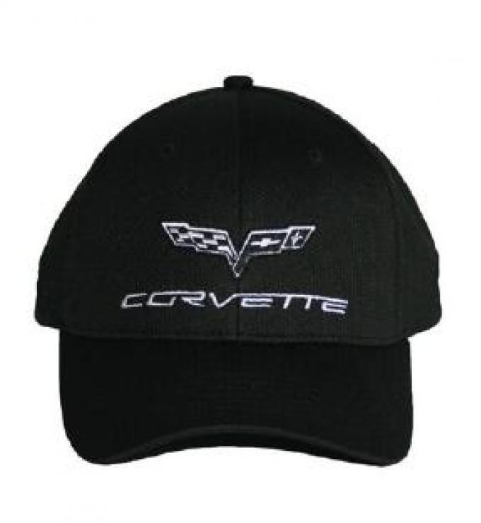 Corvette Sports Mesh Performance Elite Black Cap