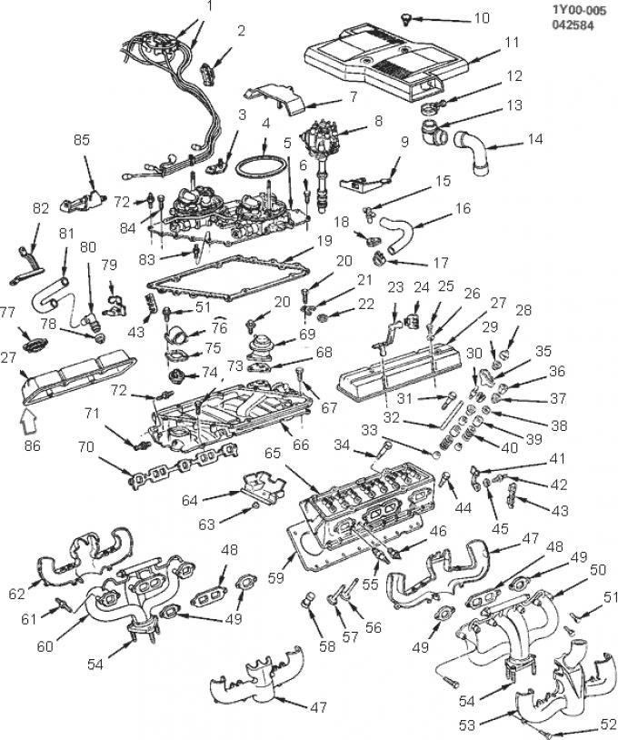 Corvette Spark Plug Wire Support to Valve Cover, Left, 1984