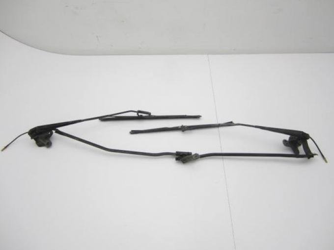 Corvette Windshield Wiper Transmission with Arms, USED 1973-1982