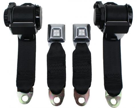 Seatbelt Solutions 1978-1982 Corvette Single Retractor Lap and Shoulder Belts
