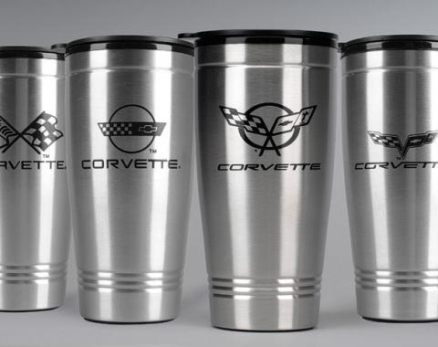Corvette Stainless Travel Mug, C3 Logo